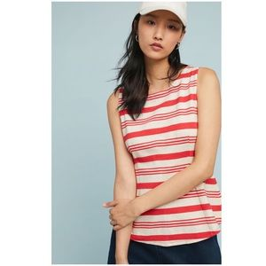 Anthropologie Mauritius Striped Top NWT Red XS New